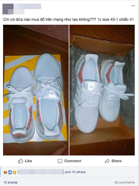Quá buồn cho thanh niên đặt giày trên mạng, khi nhận về được hẳn 2 chiếc mà lệch size