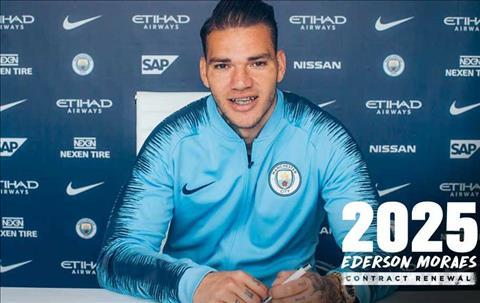 Man City đã trói chân Ederson đến năm 2025