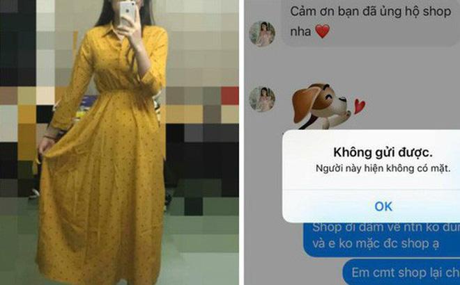 Sốc nặng khi đặt mua đầm mặc hè nhận được váy giống đầm bầu, liên hệ chủ shop bị chặn tin nhắn