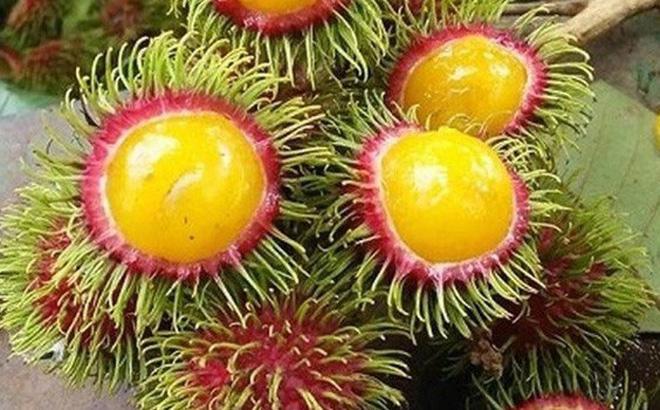 Chôm chôm ruột vàng có mặt trên thị trường