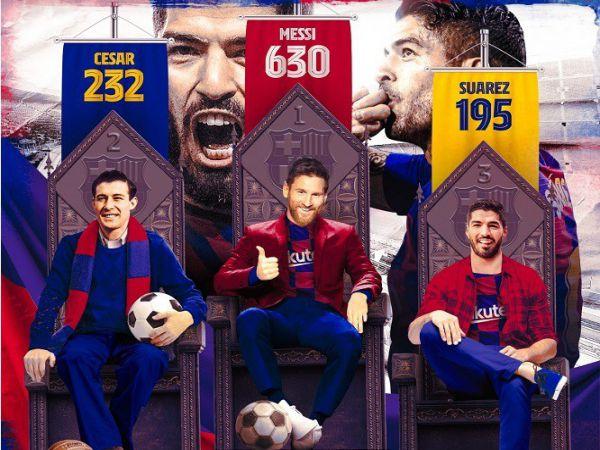 Luis Suarez đi vào lịch sử Barcelona