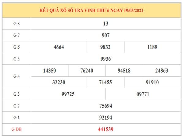 Nhận định KQXSTV ngày 26/3/2021 dựa trên kết quả kì trước