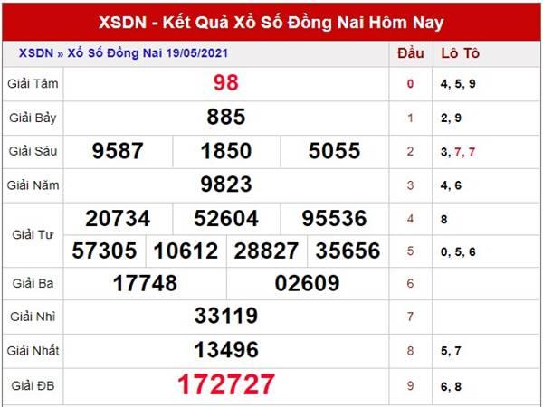 Thống kê kết quả XS Đồng Nai thứ 4 ngày 26/5/2021