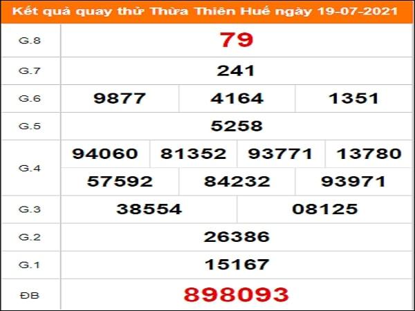 Quay thử xổ số Thừa Thiên Huế ngày 19/7/2021